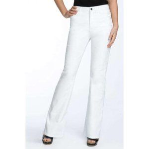 NYDJ Sarah Boot Cut White Embroidered 6 x 31